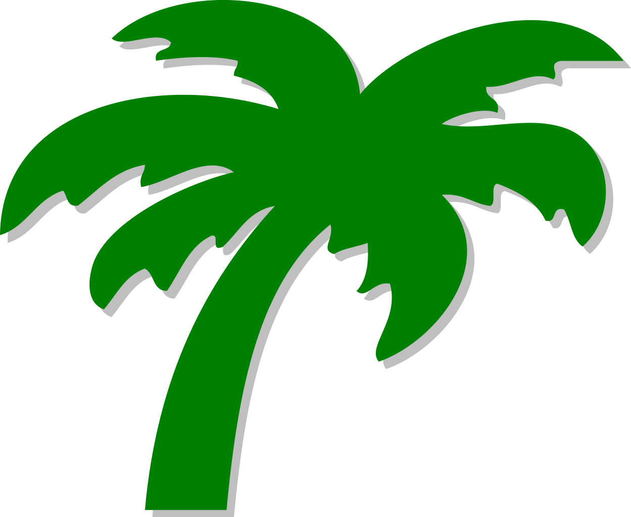 Palm tree and sun clipart