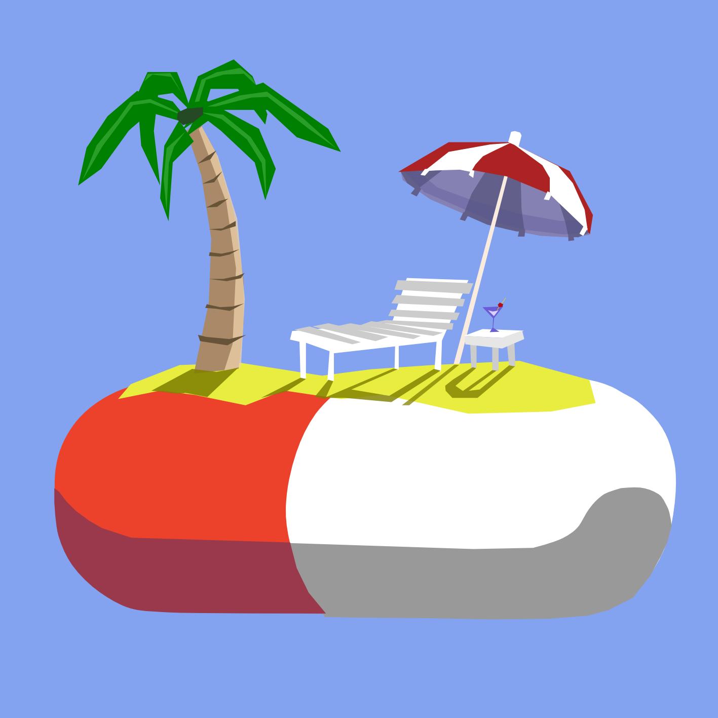 Palm sun sea clipart jpg library stock Stuart Herrington Illustration: Sun, Sea, Sand... And Sniffles; Changed jpg library stock