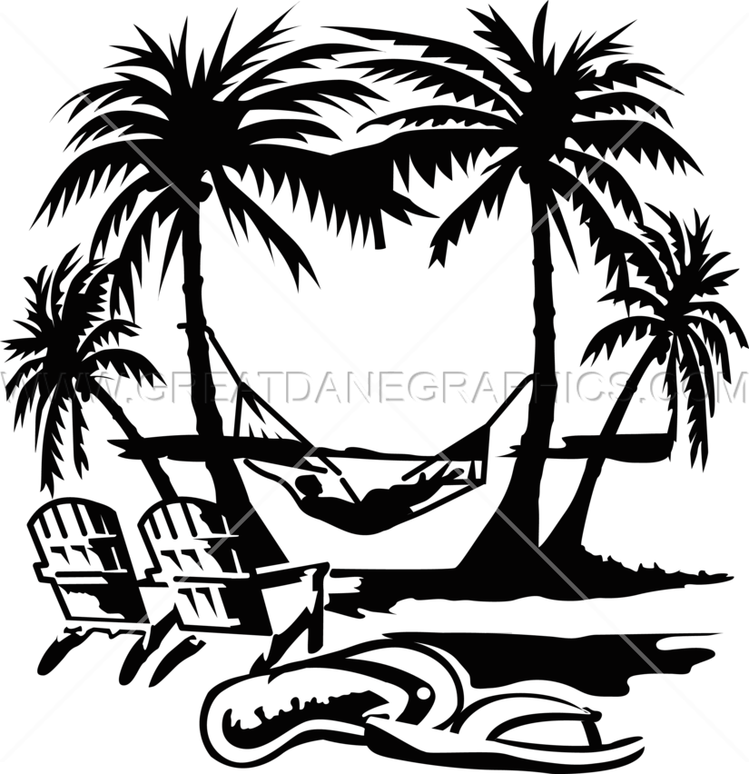 Summer sun clipart black and white image black and white Palm Tree Beach Drawing at GetDrawings.com | Free for personal use ... image black and white