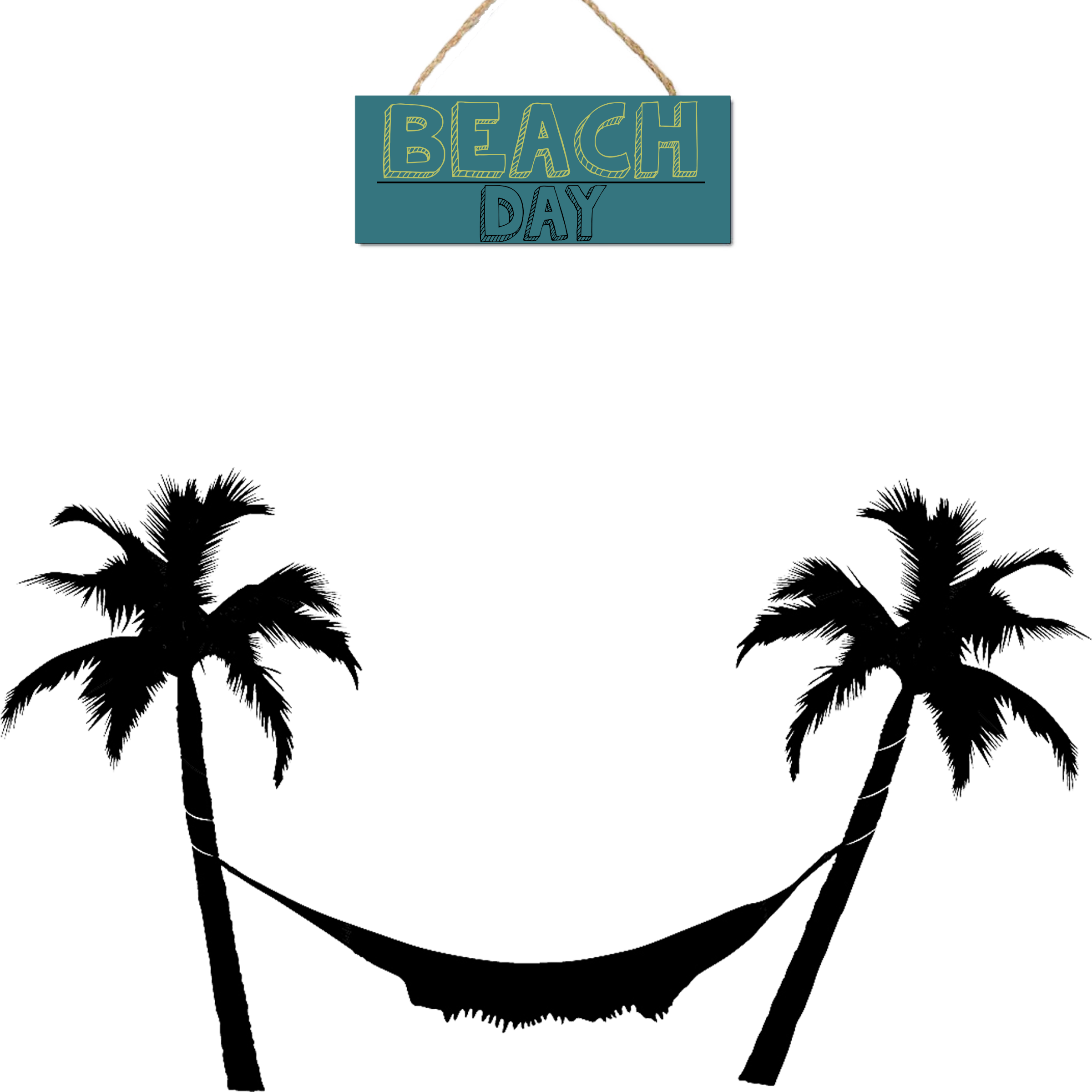 Palm tree and hammock clipart free library Arecaceae Hammock Tree Clip art - silhoutte 2400*2400 transprent Png ... free library