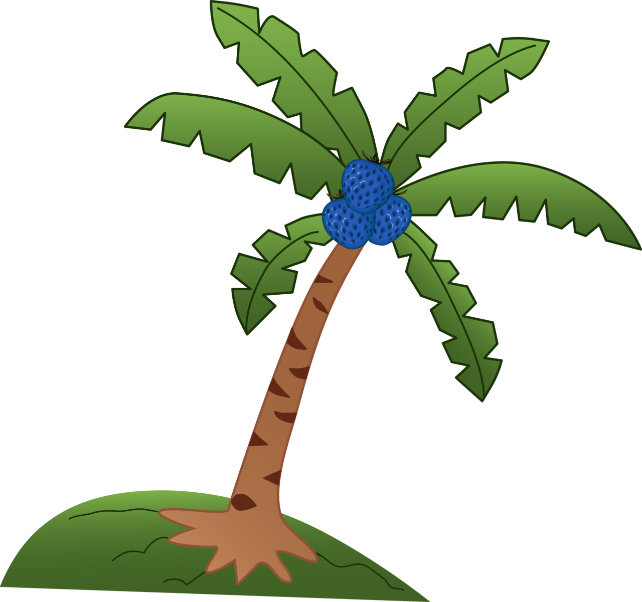 Palm tree and hammock clipart image royalty free stock  image royalty free stock