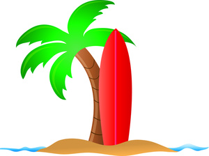 Palm tree and surfboard clipart banner transparent stock Palm Tree Surfboard Clipart - Clipart Kid banner transparent stock