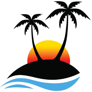 Palm tree and surfboard clipart svg freeuse Clipart of palm trees - ClipartFest svg freeuse