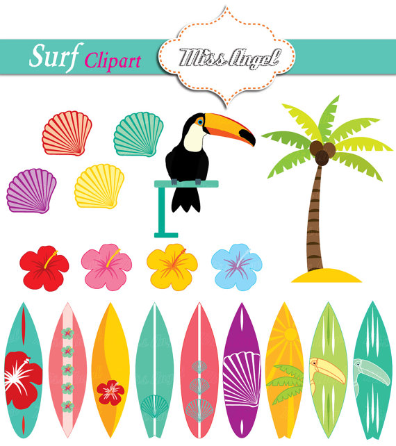 Palm tree and surfboard clipart banner transparent download Surfboards Clipart Summer Surfboards Palmtree Toucan banner transparent download