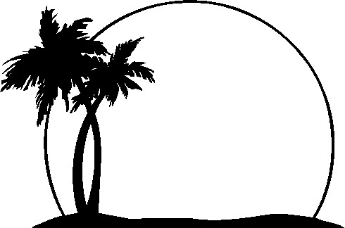 Palm tree and surfboard clipart graphic download Cali palm tree clipart - ClipartFest graphic download