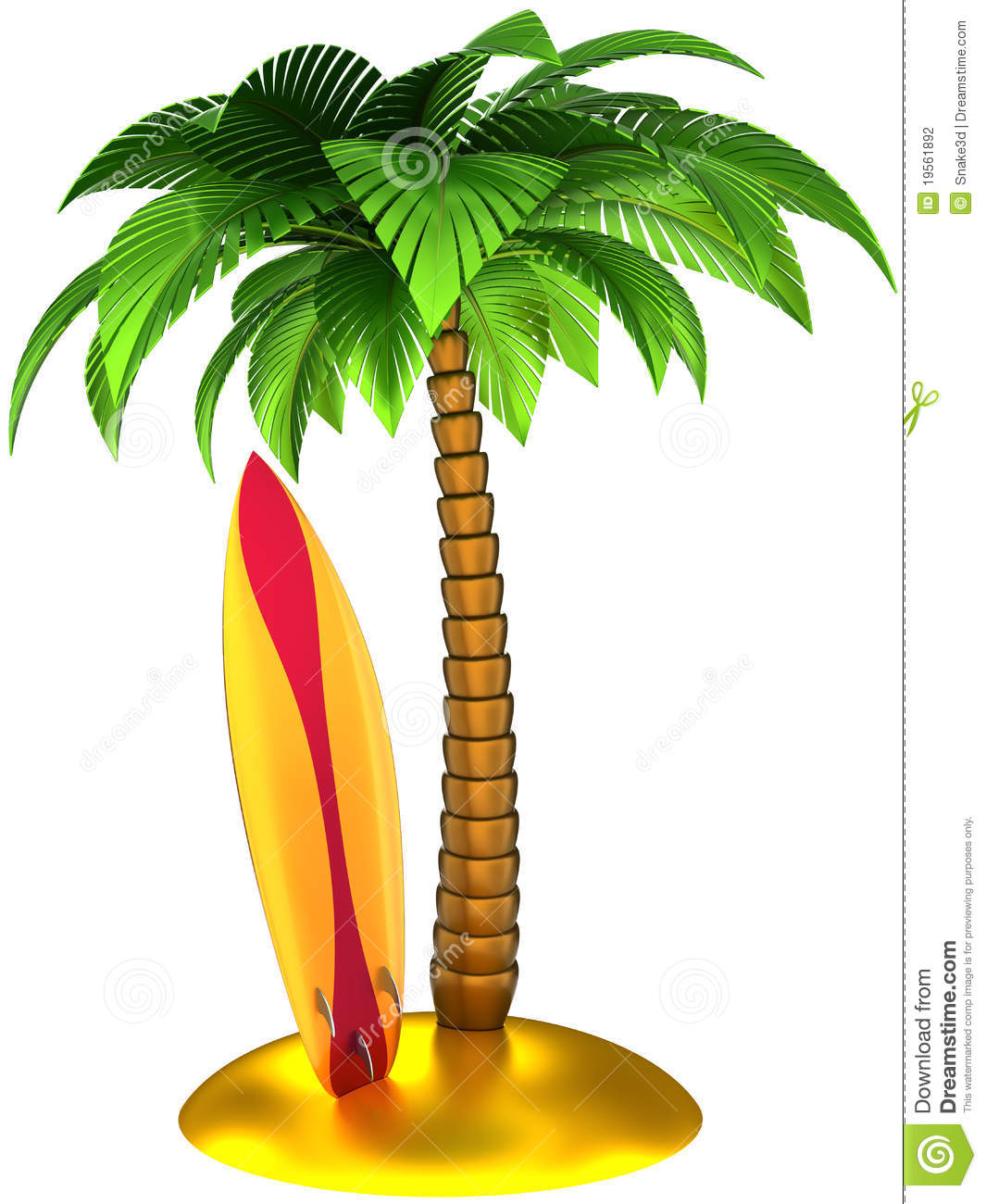 Palm tree and surfboard clipart clip Palm Tree Surfboard Clipart - Clipart Kid clip