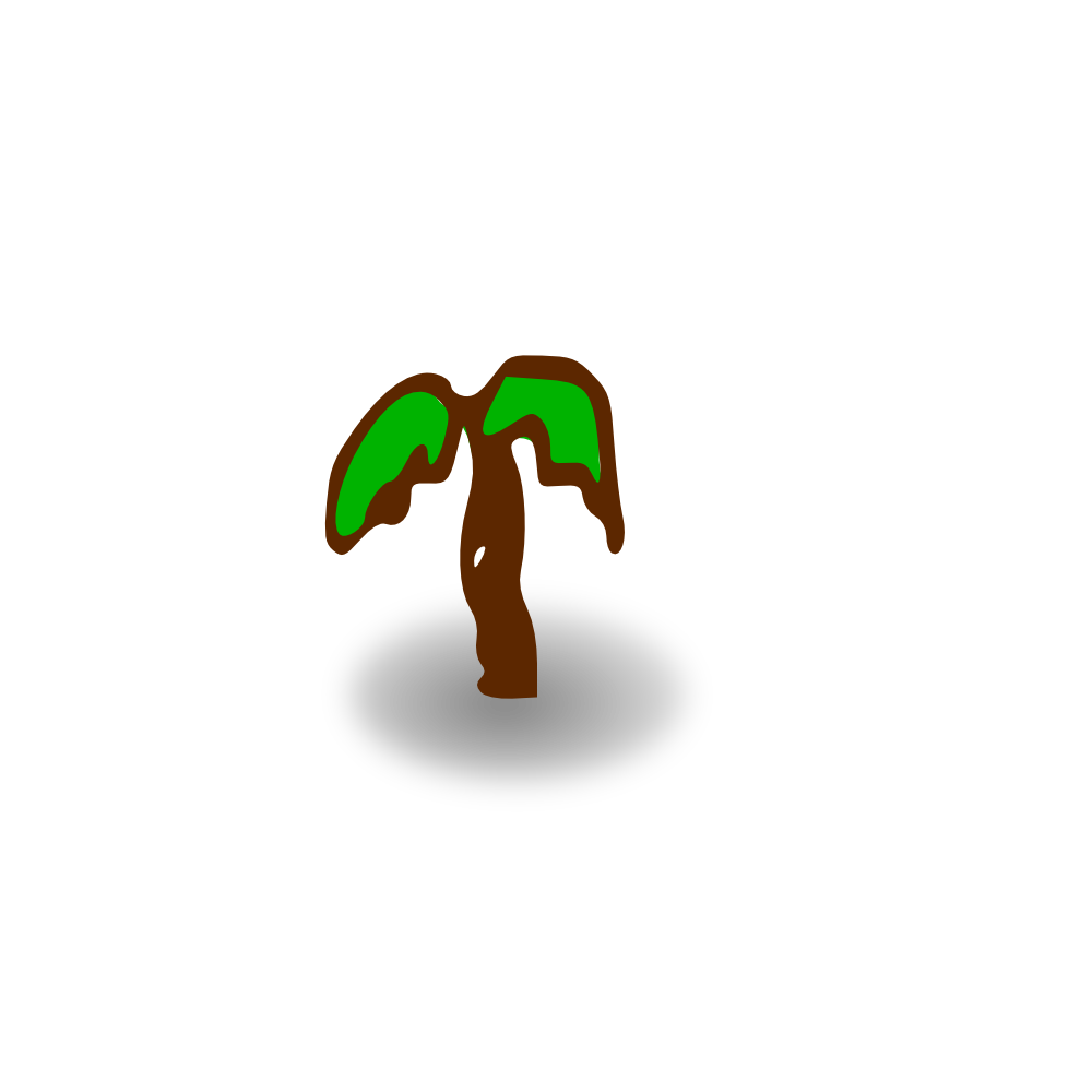 Palm tree clipart stock OnlineLabels Clip Art - Small Shaded Palm Tree stock