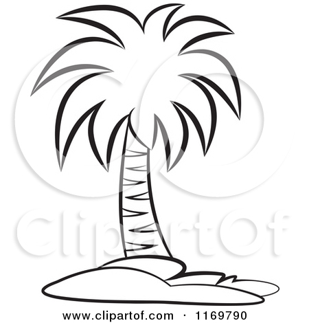 Palm tree clipart free black white image freeuse stock Palm Tree Clipart Black And White | Clipart Panda - Free ... image freeuse stock
