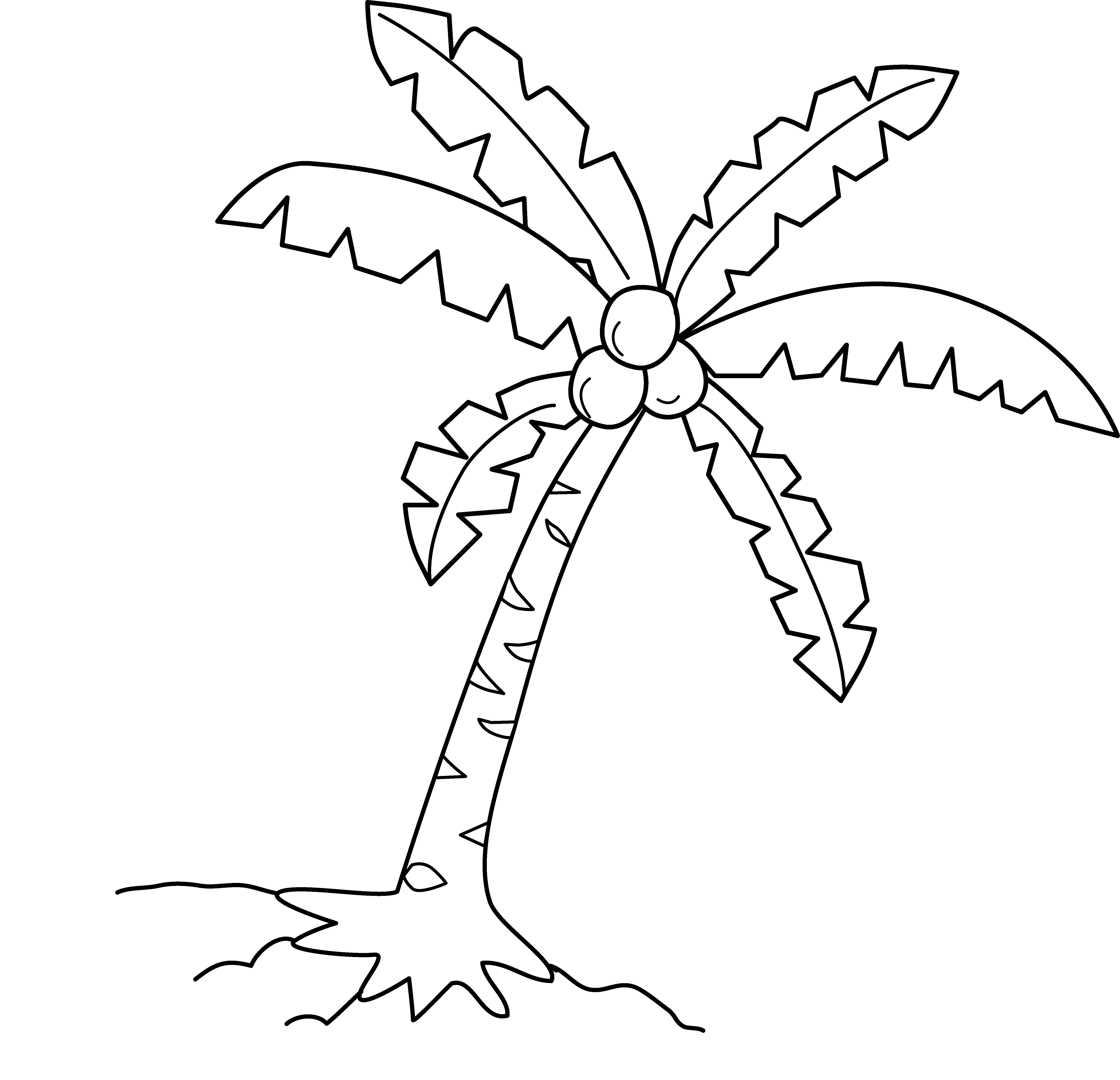 Palm tree clipart outline jpg transparent Free Palm Trees Clipart Black And White, Download Free Clip ... jpg transparent
