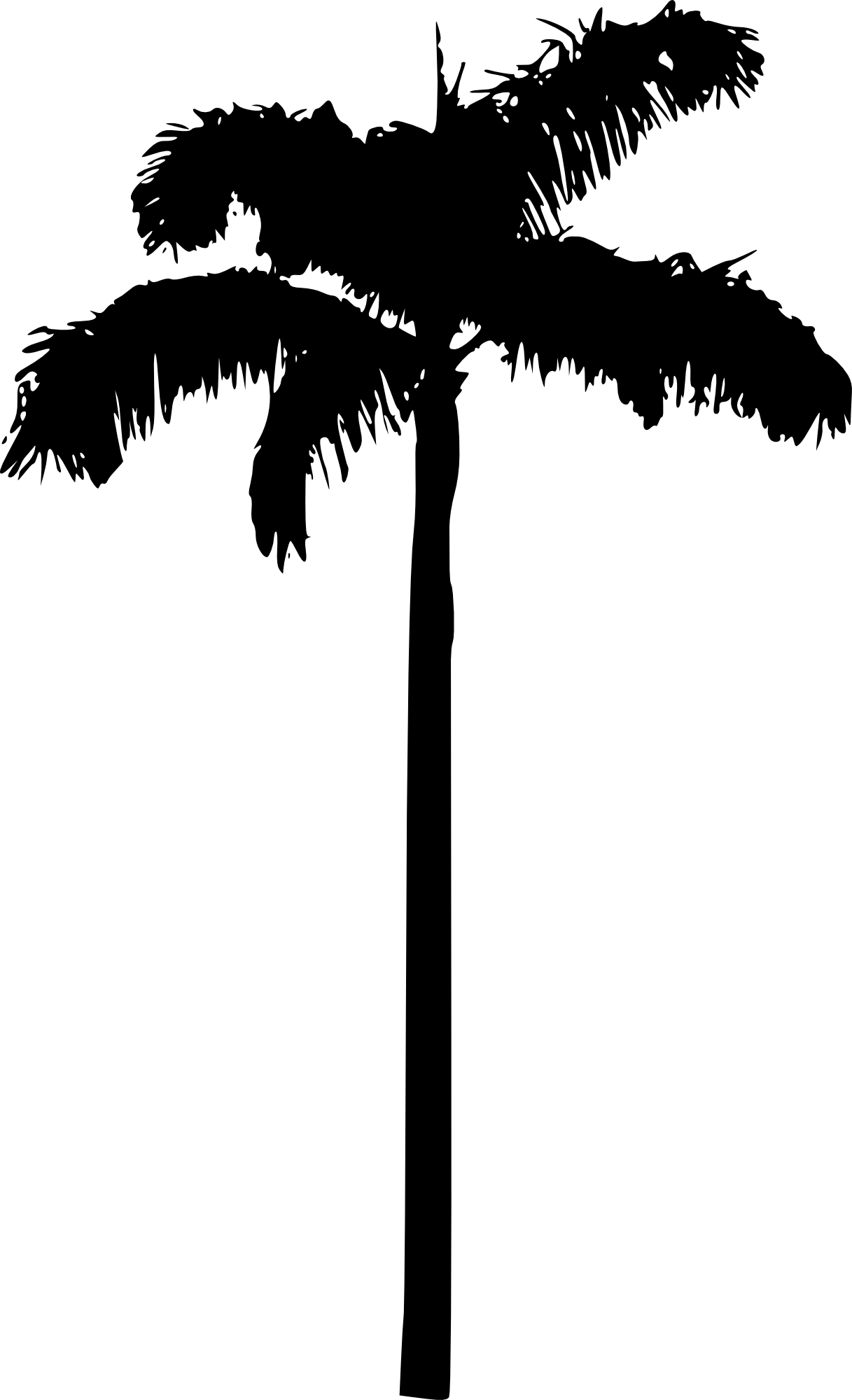 Palm tree clipart black and white no background image royalty free library 15 Palm Tree Silhouettes PNG Transparent Background | OnlyGFX.com image royalty free library