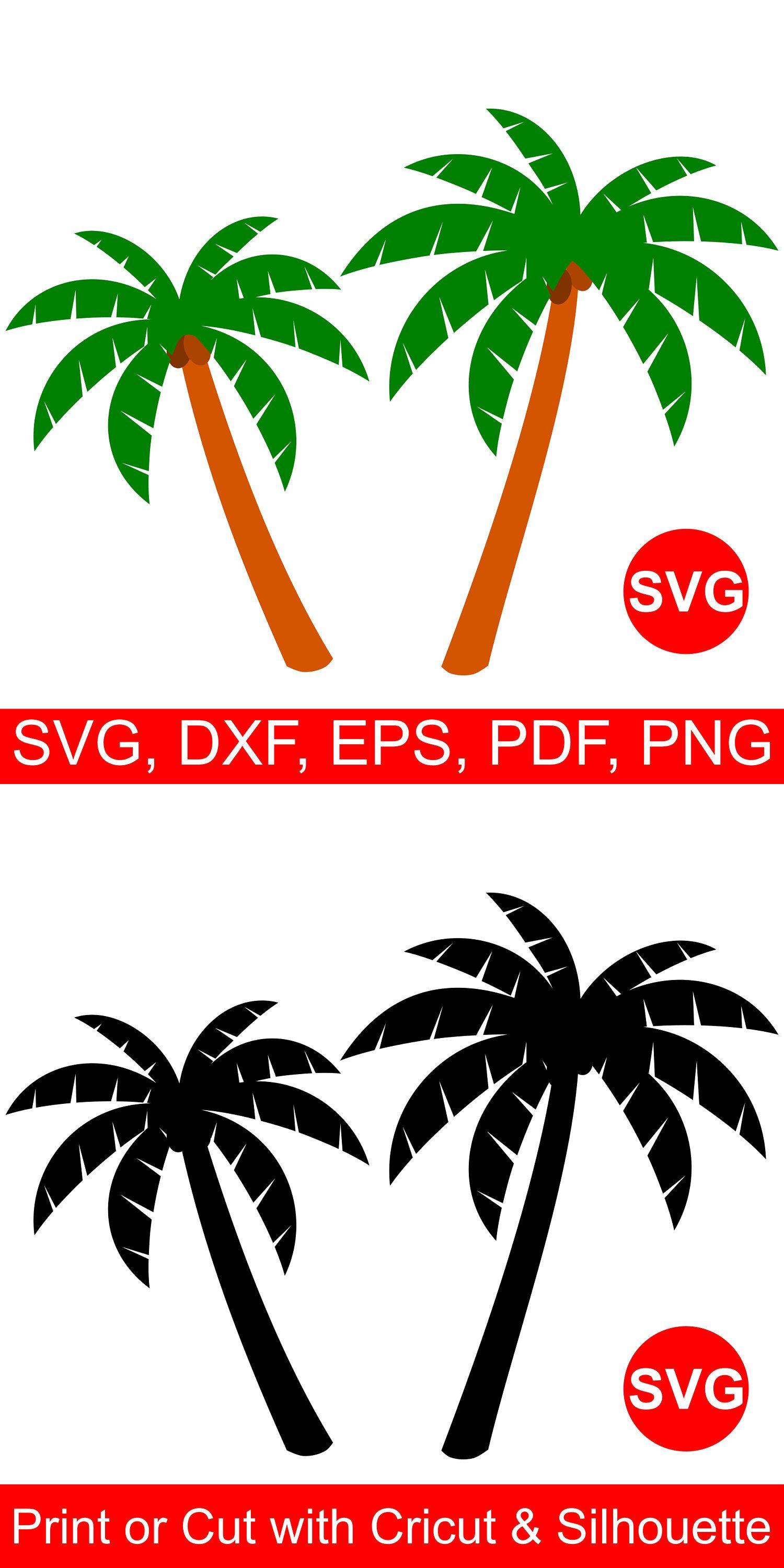 Palm tree clipart for cricut explore air 2 png royalty free Palm Tree SVG files for Cricut & Silhouette   Tropical SVG ... png royalty free