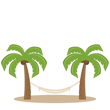 Palm tree clipart for cricut explore air 2 svg library Palm Trees With Hammock SVG scrapbook cut file cute clipart ... svg library
