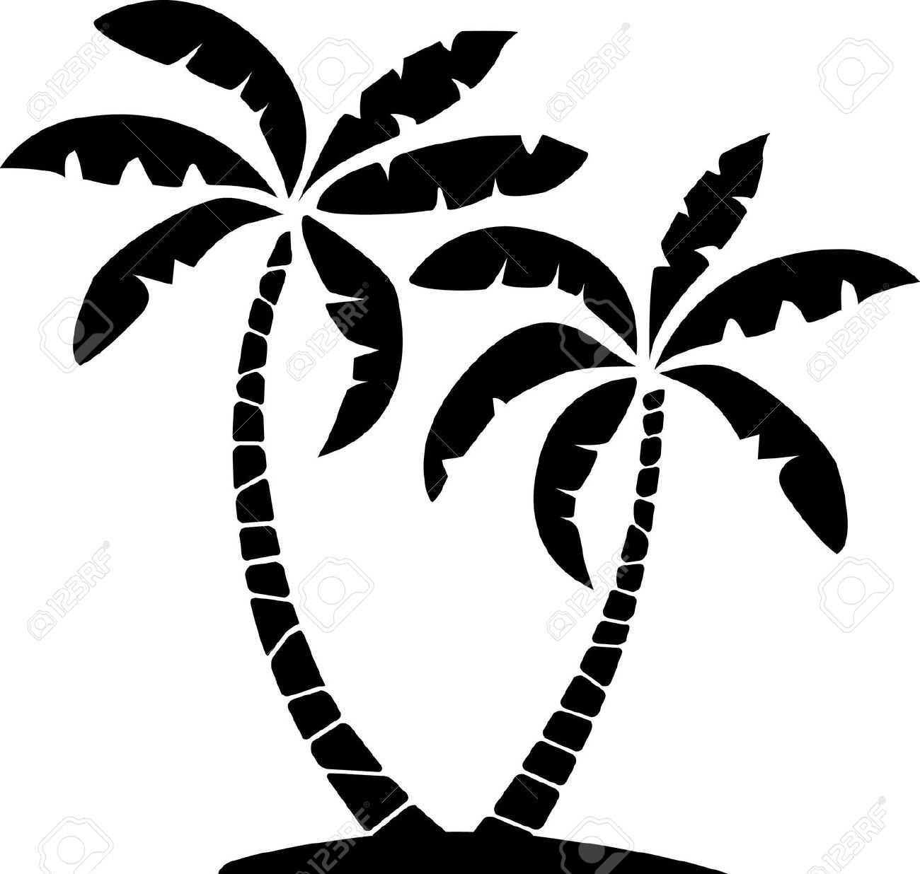 Palm tree clipart free black white clip art Palm Leaf Cliparts, Stock Vector And Royalty Free Palm Leaf ... clip art