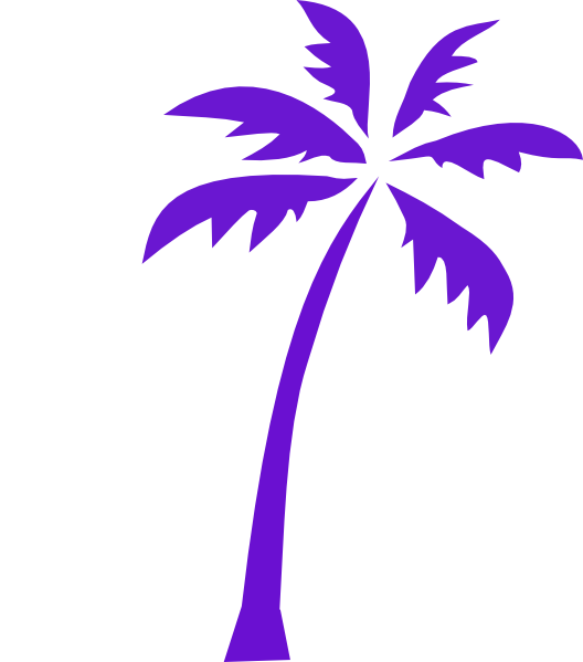 Purple tree clipart png royalty free library Palm Tree Clip Art at Clker.com - vector clip art online, royalty ... png royalty free library
