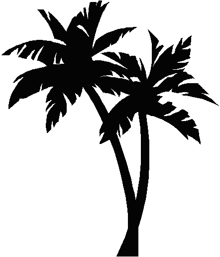 Palm tree clipart vector free vector Palm trees silhouette vector clipart images gallery for free ... vector