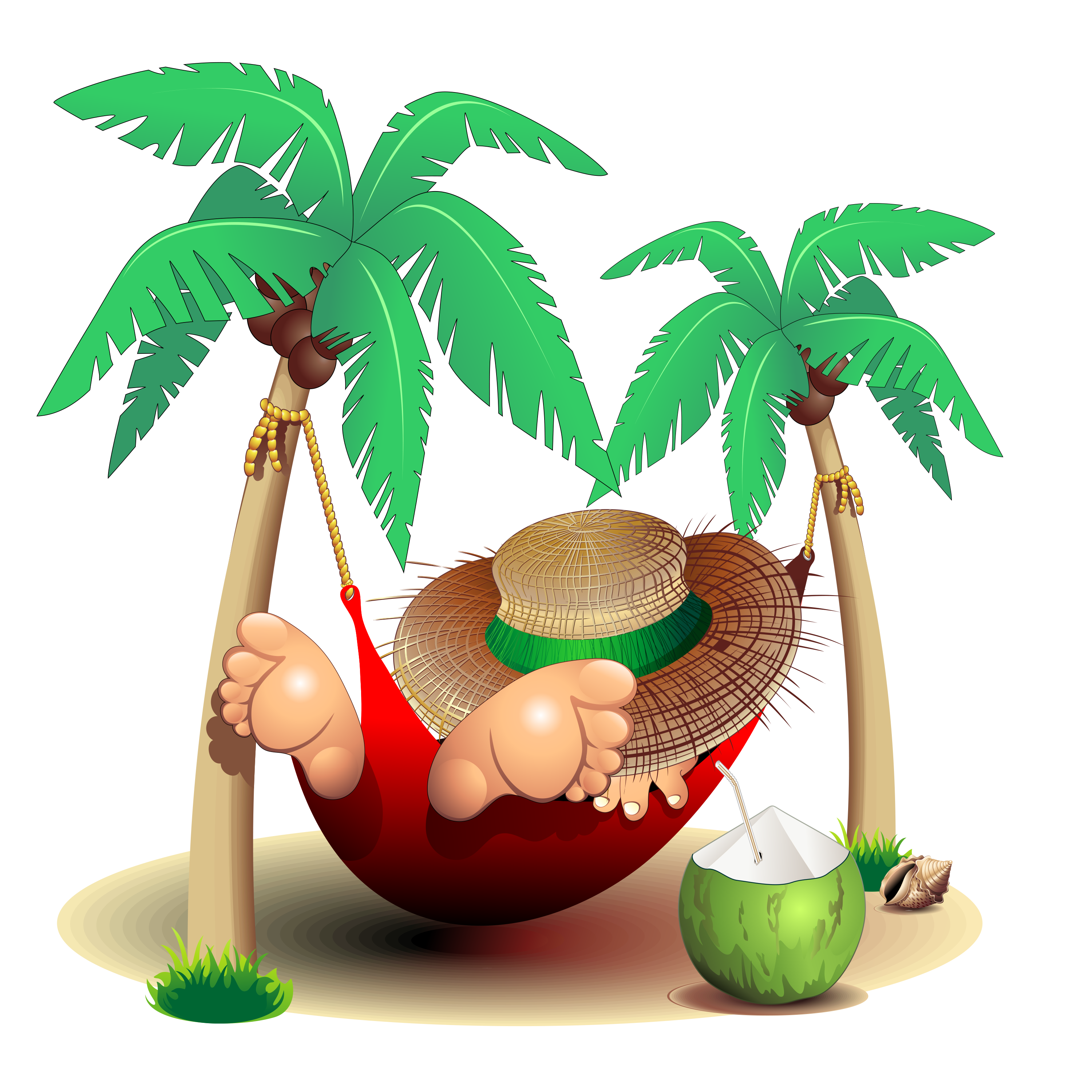 Palm tree hammock clipart jpg freeuse download Wedding invitation Keep Calm and Carry On Drawing Clip art - coconut ... jpg freeuse download