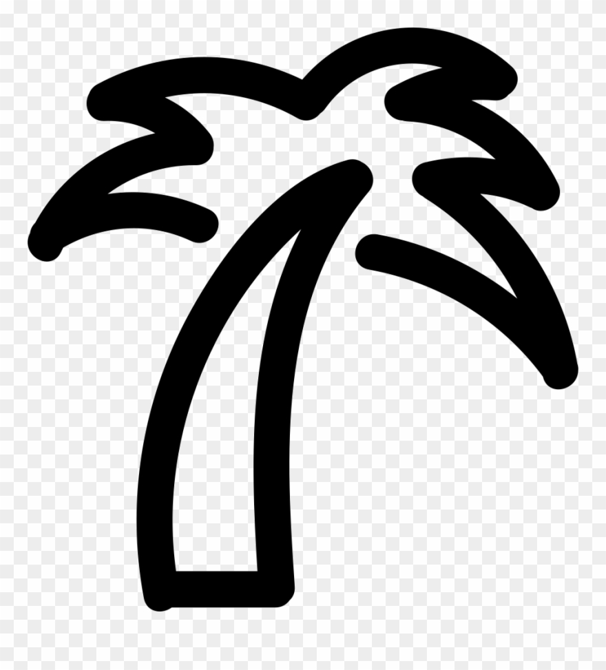 Palm tree icon clipart vector freeuse library Palm Tree Icon Png - Palm Tree Outline Png Clipart (#1147757 ... vector freeuse library