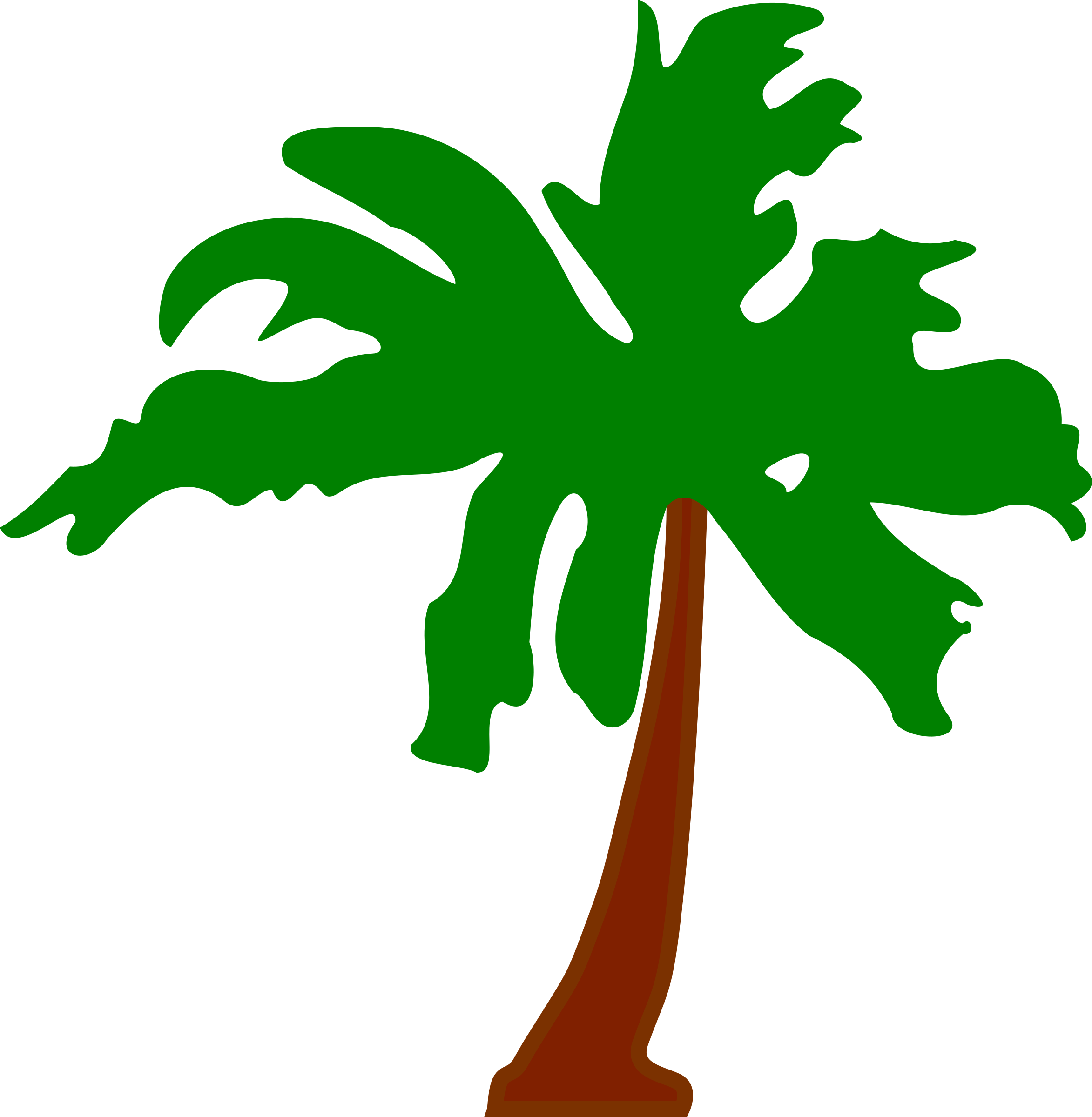 Palm tree island clipart image black and white stock Clipart - Palm tree 5 image black and white stock