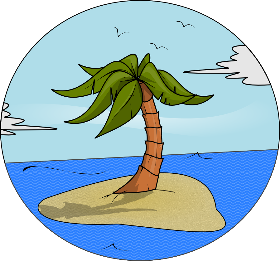 Palm tree island clipart royalty free library Learning English with Gabitxu: On my island (L3U8) royalty free library