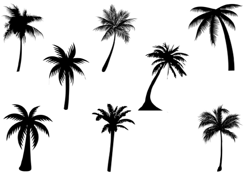 Palm tree silhouette clipart free svg freeuse library Free Simple Palm Tree Silhouette, Download Free Clip Art ... svg freeuse library