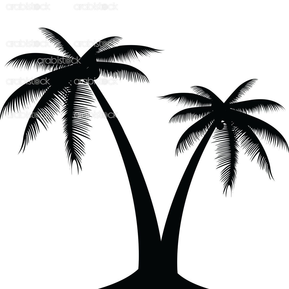 Palm tree silhouette clipart no background graphic transparent library Silhouette Palm Tree (56+) graphic transparent library