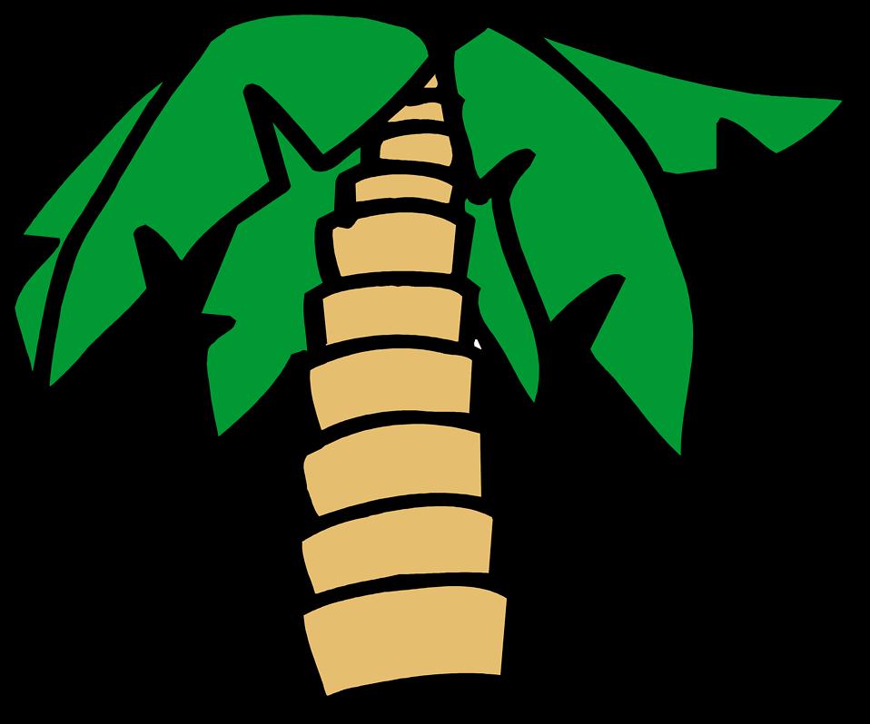 Palm tree sunset clipart transparent Palm Tree | Free Stock Photo | Illustration of a cartoon palm tree ... transparent