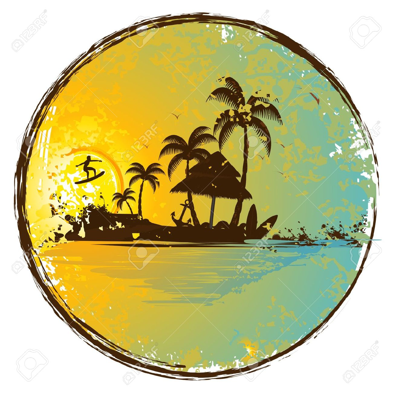 Palm tree sunset clipart 400 pixel by 150 pxl jpg royalty free Palm tree sunset clipart - ClipartFest jpg royalty free