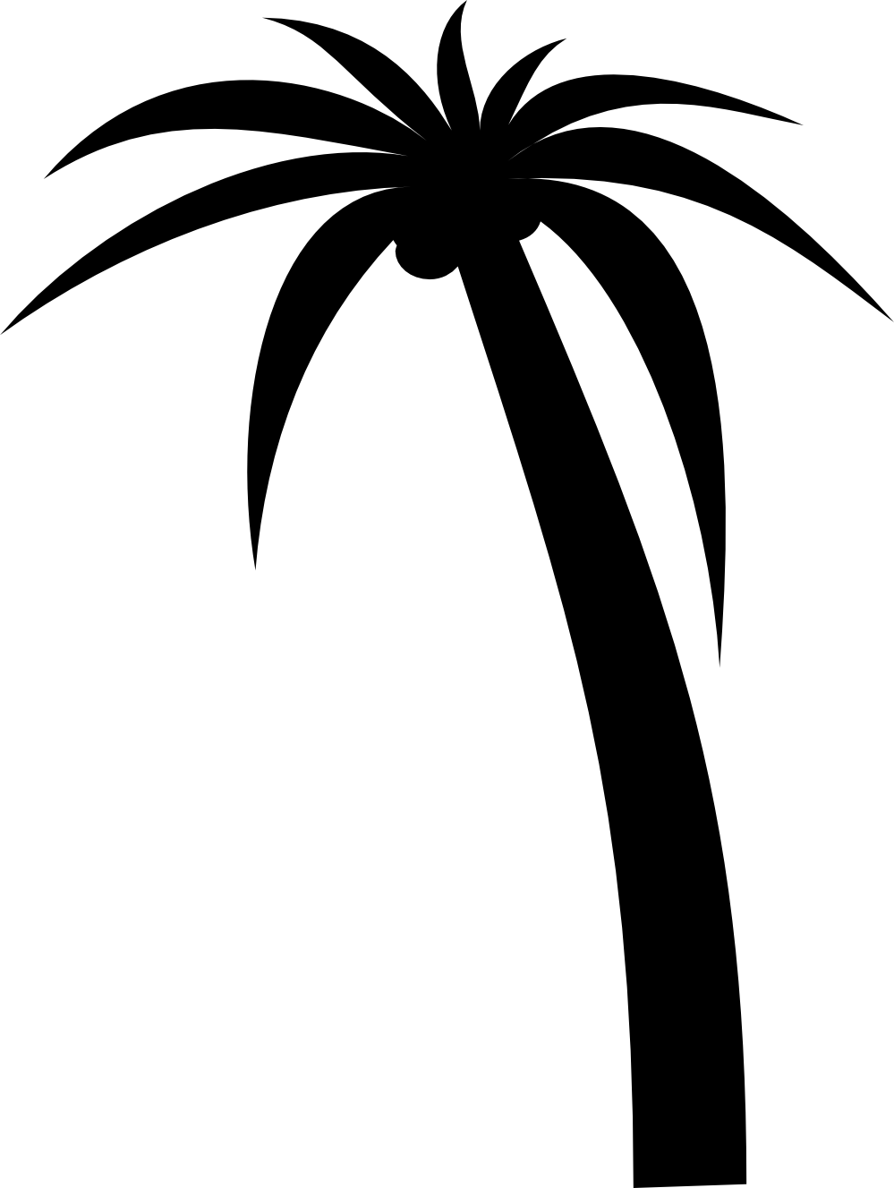 Palm tree sunset clipart 400 pixel by 150 pxl clipart Palm tree silhouette sunset clipart - ClipartFest clipart