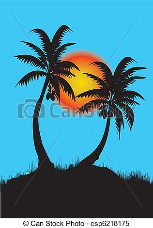 Palm tree sunset clipart 400 pixel by 150 pxl clipart transparent download Clipart sunset with palm tree - ClipartFest clipart transparent download