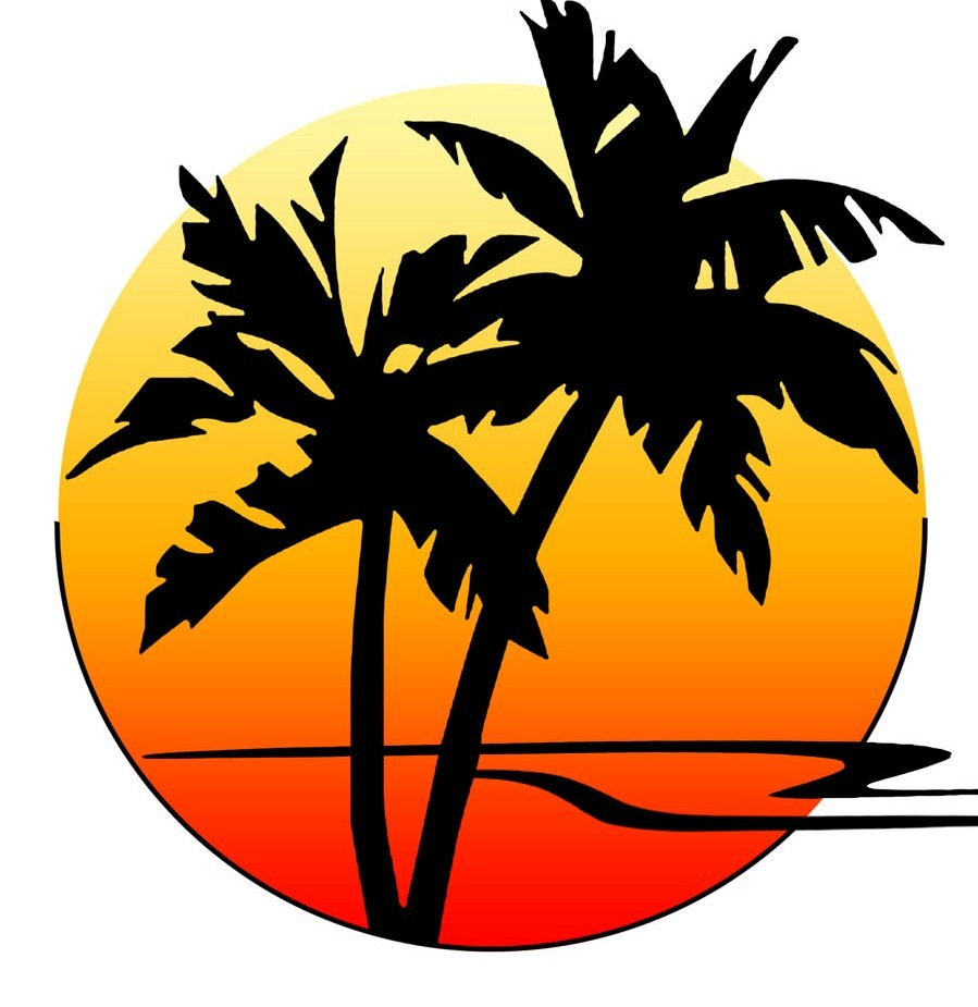 Palm tree sunset clipart 400 pixel by 150 pxl clip art free download Clipart sunset with palm tree - ClipartFest clip art free download