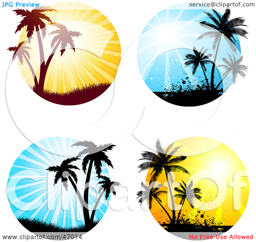 Palm tree sunset clipart 400 pixel by 150 pxl picture transparent Clipart sunset with palm tree - ClipartFest picture transparent