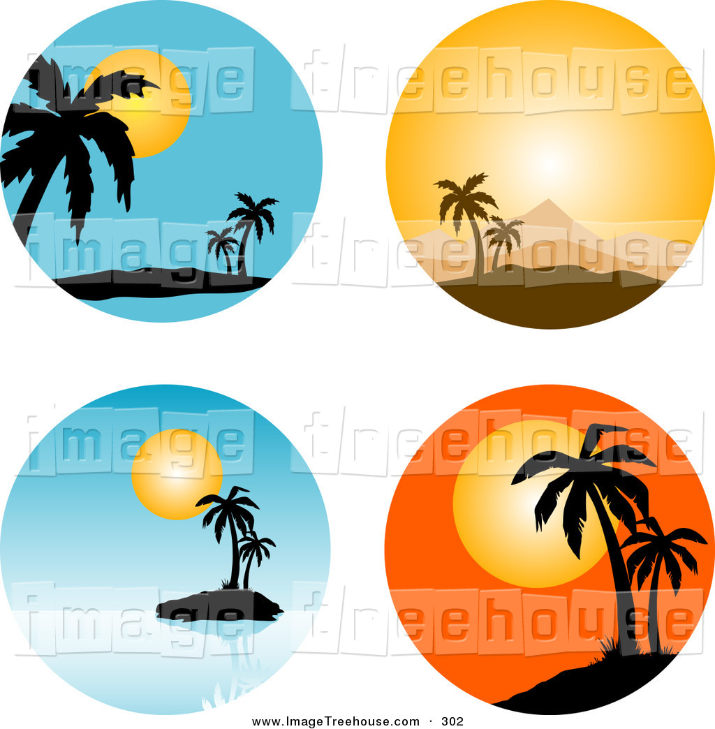 Palm tree sunset clipart 400 pixel by 150 pxl svg freeuse stock Palm tree sunset clipart 400 pixel by 150 pxl - ClipartFest svg freeuse stock