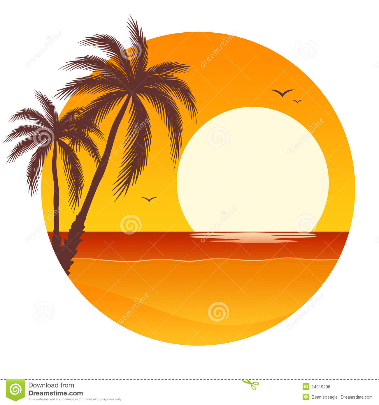 Palm tree sunset clipart 400 pxl by 150 pxl png freeuse download Palm tree and sunset clipart - ClipartFest png freeuse download