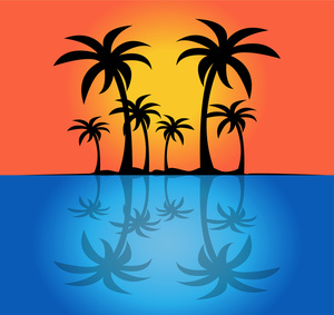 Palm tree sunset clipart 400 pxl by 150 pxl picture library stock Palm tree sunset clipart 400 pxl by 150 pxl - ClipartFest picture library stock