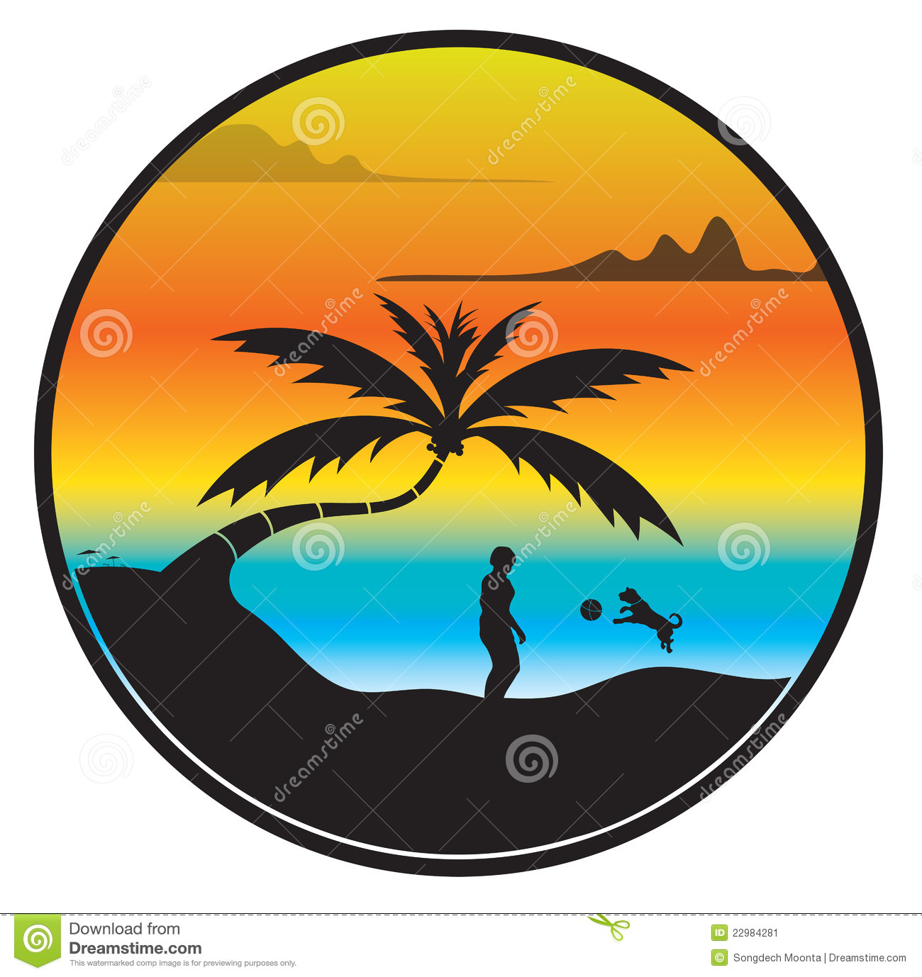 Palm tree sunset clipart 400 pxl by 150 pxl image Palm tree and sunset clipart - ClipartFest image