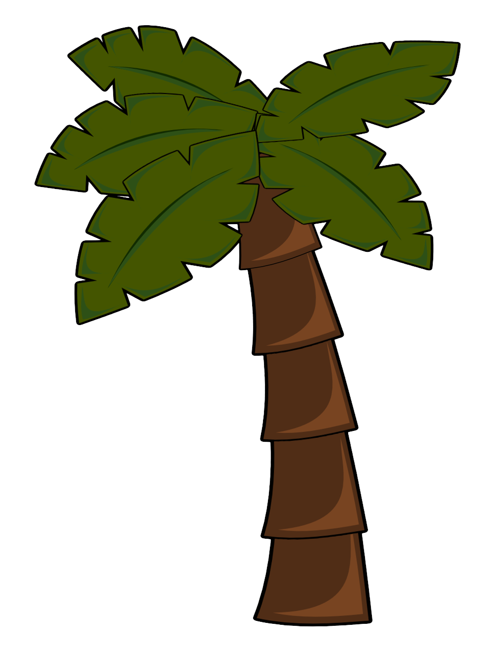 Brown tree trunk clipart image library download Clipart palm tree sunset party - ClipartFest image library download