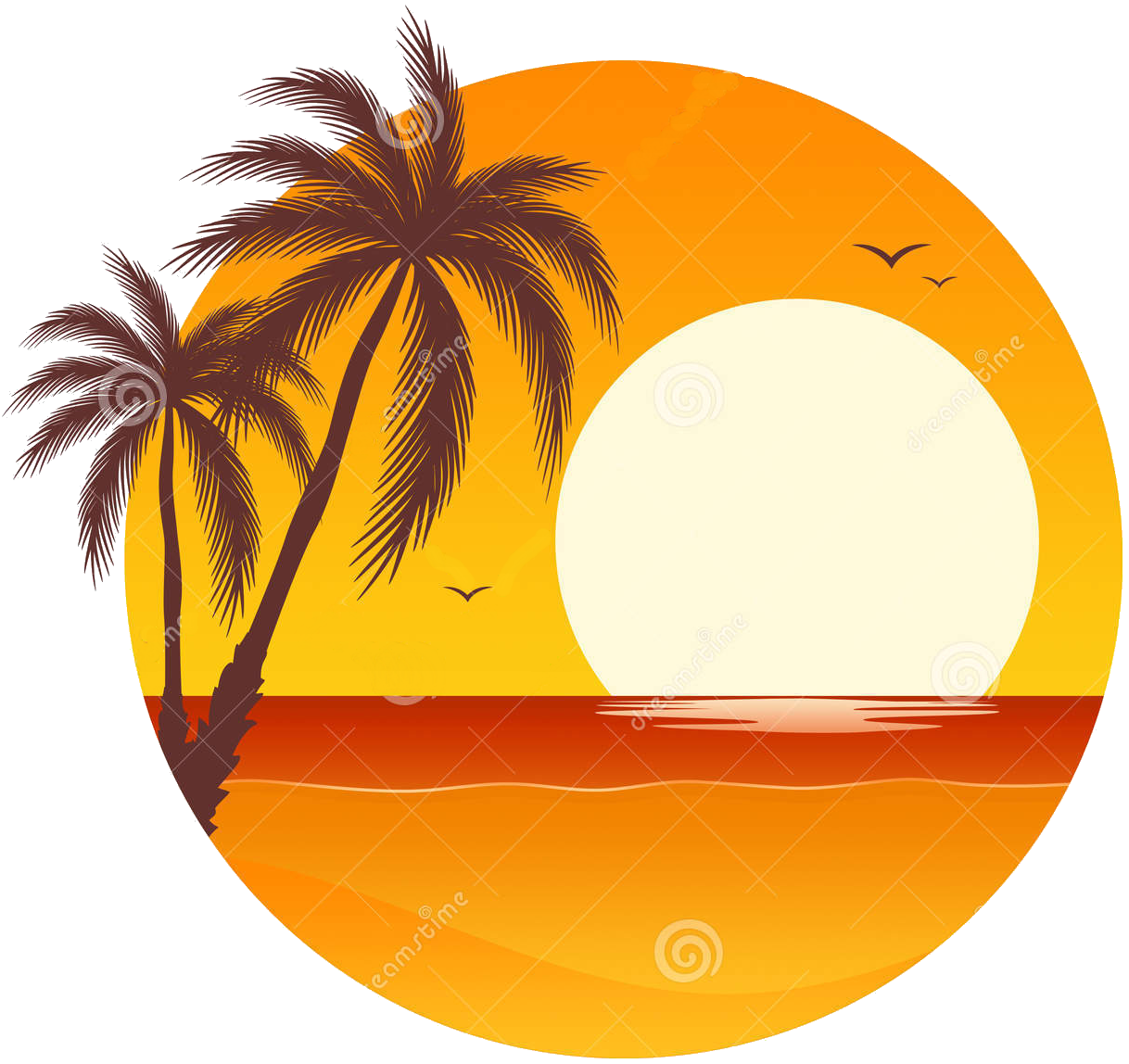 Palm tree sunset clipart svg library library Event-2017 Jan-Sunset Sips#1 - St Huberts Island, New South Wales ... svg library library