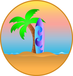 Palm tree surfboard clipart clip art library library Palm Tree Surfboard Clipart - Clipart Kid clip art library library