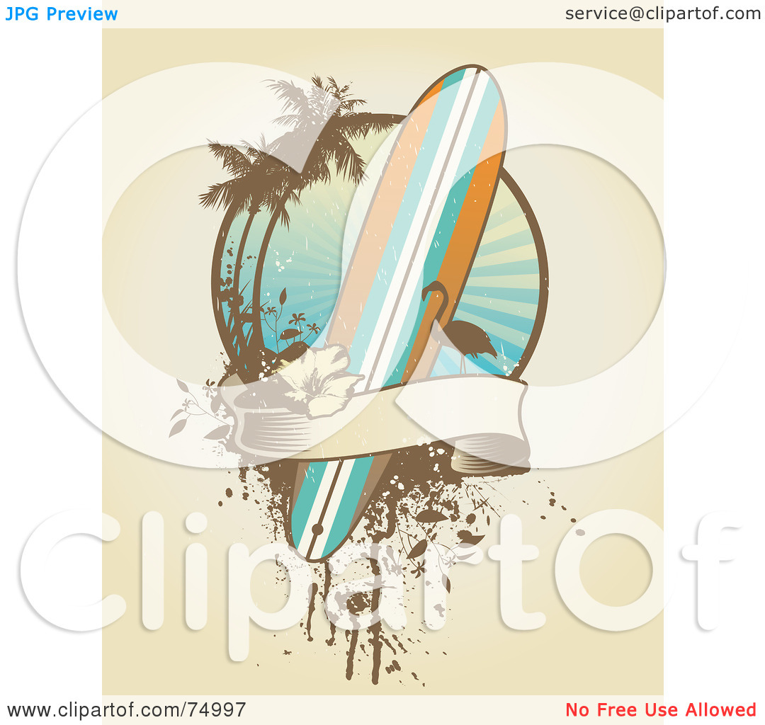 Palm tree surfboard clipart clipart library stock Surfboard clipart standing palm tree - ClipartFest clipart library stock