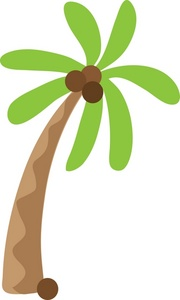 Palm tree surfboard clipart image freeuse download Single palm tree clipart - ClipartFest image freeuse download