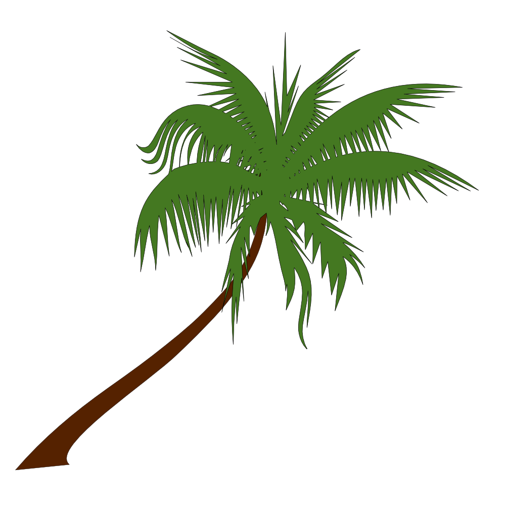 Tree with initials clipart image transparent Luau palm tree clip art - ClipartFest image transparent