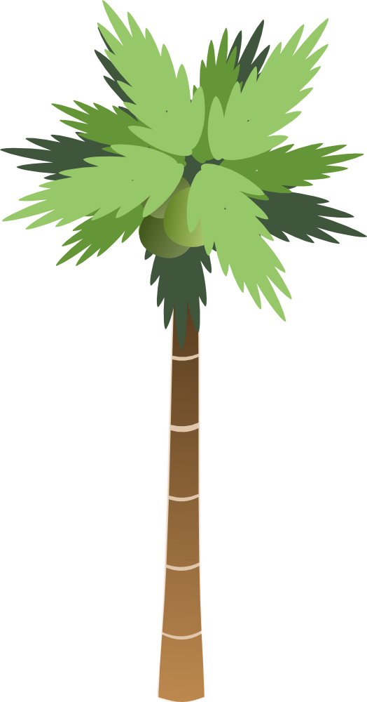 Palm tree water clipart banner library library OnlineLabels Clip Art - Palm Tree banner library library