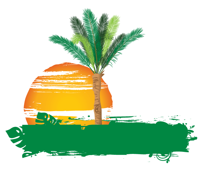 Palm tree with hammock clipart picture transparent Creative Online Free Palm tree Logo Design - Free Logo Maker picture transparent