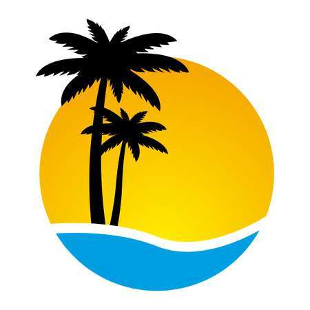 Palm trees sunset clipart picture transparent Palm tree sunset clipart 5 » Clipart Portal picture transparent