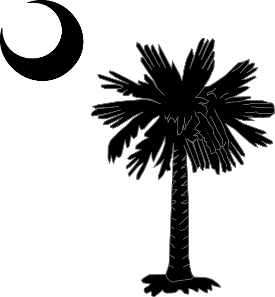 Palmetto tree and moon clipart vector black and white download Palmetto Tree Clip Art at Clker.com - vector clip art online ... vector black and white download