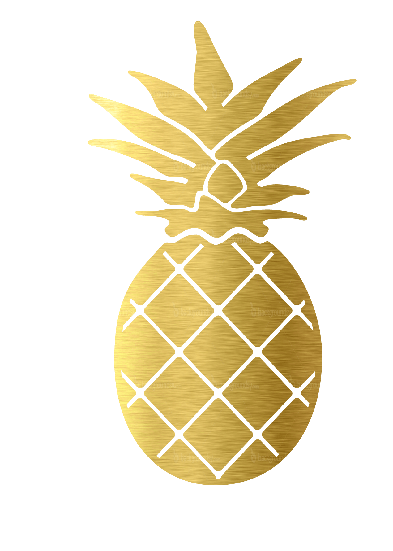 Pineapple clipart crown vector transparent Decals & Stickers - Palmetto Moon vector transparent