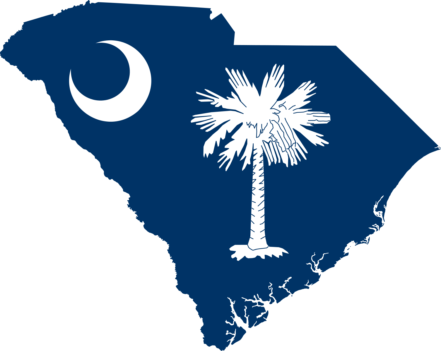 Palmetto tree and moon clipart svg royalty free File:Flag-map of South Carolina.svg - Wikimedia Commons | Favorites ... svg royalty free