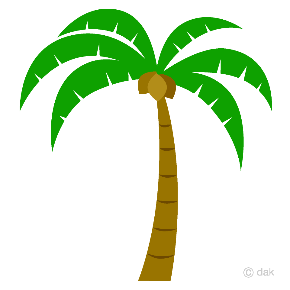 Palmrtree clipart graphic black and white stock Simple Palm Tree Clipart Free Picture|Illustoon graphic black and white stock