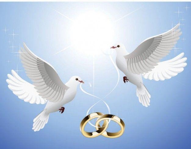 Palomas de boda clipart clipart library stock colgando del vector de la paloma del anillo | Descargar ... clipart library stock