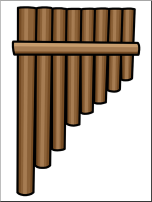 Pan flute clipart vector transparent library Clip Art: Panpipe Color I abcteach.com | abcteach vector transparent library